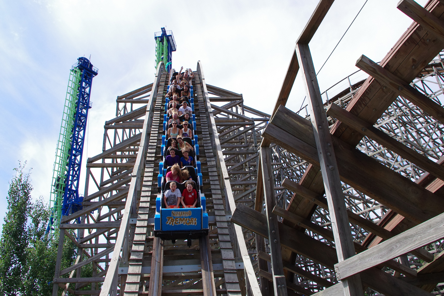 Silverwood Tremors Roller Coaster